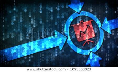 üzlet flipchart felirat pixeles piros piktogram Stock fotó © tashatuvango