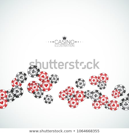 Realistic casino chips illustration on clean background. Isolated falling token. Vector gambling con Stock photo © articular