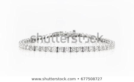 stone Bracelet on white background stock photo © ungpaoman