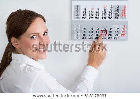 деловая · женщина · графика · календаря · дневнике · месте - Сток-фото © andreypopov