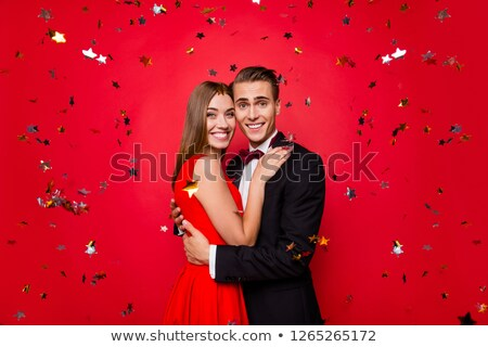 man in festive suit over night club party Stock photo © dolgachov