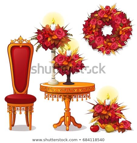 oda · kırmızı · sandalye · gramofon · örnek · arka · plan - stok fotoğraf © lady-luck