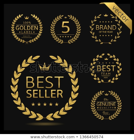 Márka címke legjobb díj arany ajánlat Stock fotó © robuart