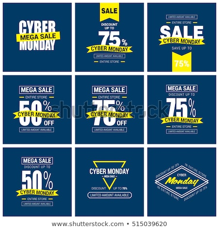 Cyber Monday sale with computer 3D cursor pointer Stock photo © m_pavlov