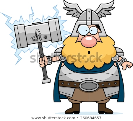 Surprised Cartoon Thor Stock photo © cthoman