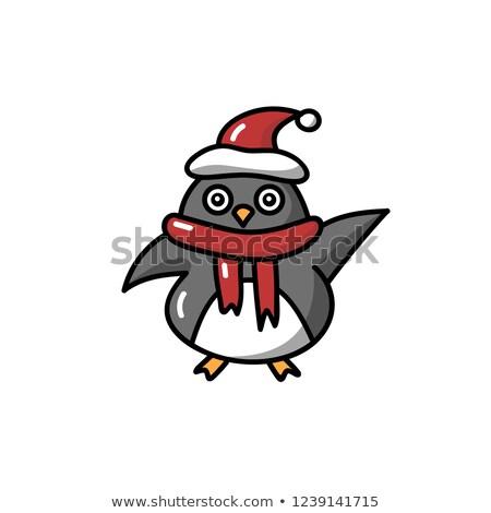 Kwaad weinig pinguin cartoon illustratie naar Stockfoto © cthoman