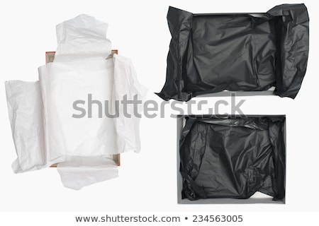 Open box for shoes storage. Empty carton container Stock photo © robuart