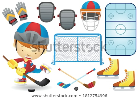 Skating Rink and People, Children Playing Vector Stock photo © robuart