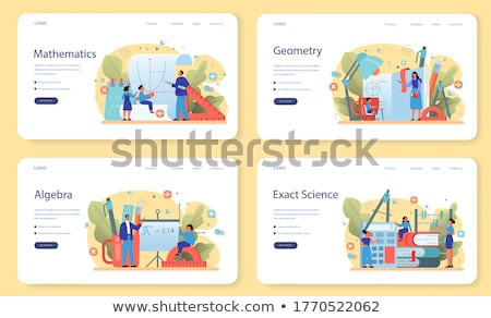 Mathematics Algebra and Geometry Web Pages Set Stock photo © robuart