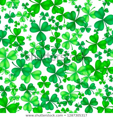 Clover leaf seamless background Stock photo © colematt