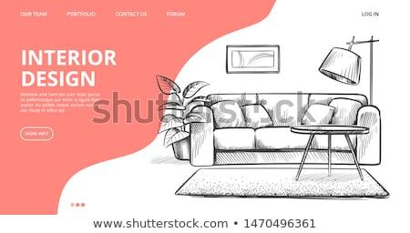 Interior design concept landing page. Stock photo © RAStudio