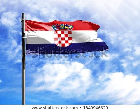 Casa bandeira Croácia branco casas Foto stock © MikhailMishchenko