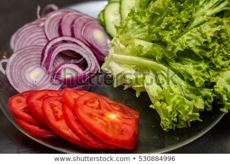 Pomidory cebule sałata restauracji czerwony jedzenie Zdjęcia stock © ConceptCafe