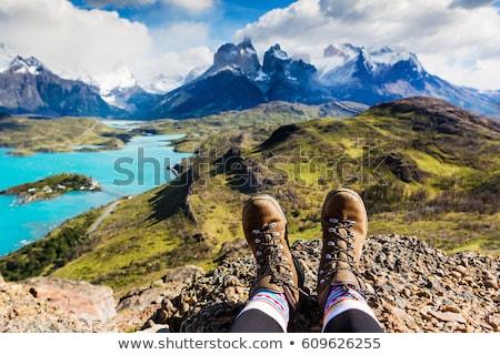 hiking boots view stock photo © pedrosala