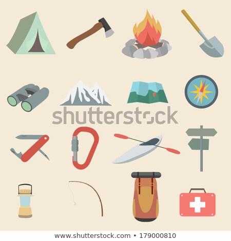 Dizayn ikon kamp kürek ui renkler Stok fotoğraf © angelp