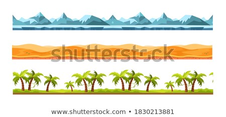 Différent route désert terres illustration paysage Photo stock © colematt