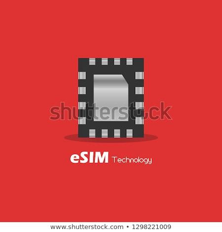kártya · vonal · ikon · sarkok · háló · mobil - stock fotó © tashatuvango