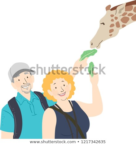 живая природа иллюстрация поездку жираф Сток-фото © lenm