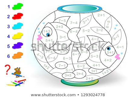 Subtraction the number worksheet Stock photo © bluering