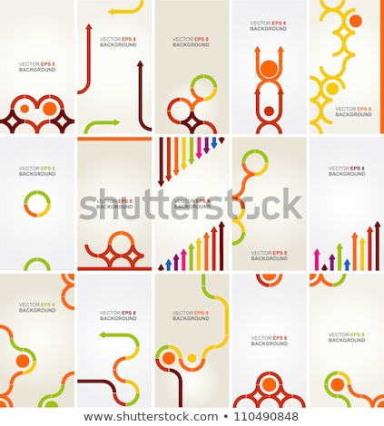 Vector on-line education concept creative business illustration with working people.  stock photo © Giraffarte