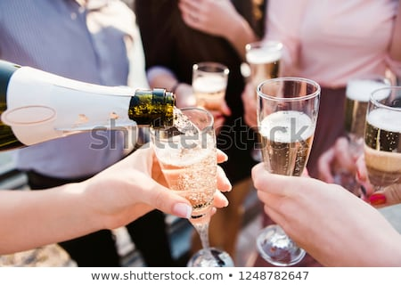 Guys with champagne Stock photo © pressmaster