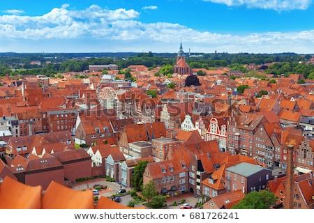 Straat Duitsland historisch huizen oude stad Stockfoto © borisb17