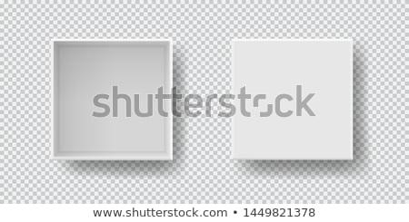 Caixa conjunto topo ver sombra para cima Foto stock © Fosin