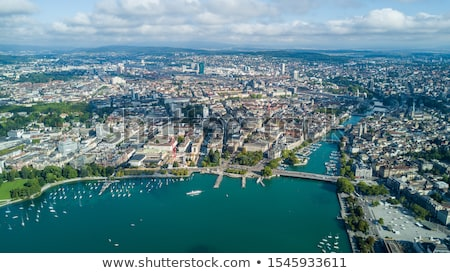 Stockfoto: Zürich · heuvel · Zwitserland · hemel · water