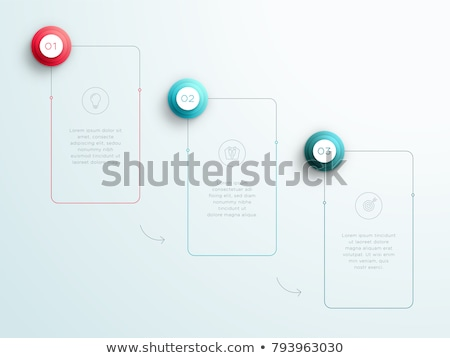 Chart with Columns and Numbers on Rectangle Vector Stock photo © robuart