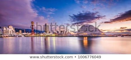 Kobe port tower sunset Stock photo © vichie81