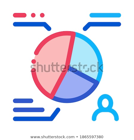 Vote Distribution Statistics Icon Vector Outline Illustration Stock photo © pikepicture
