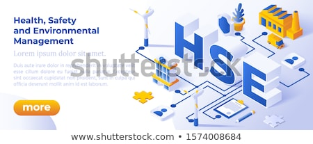 Hse - Health Safety And Environmental Management Web Banner For Business And Organization Foto stock © Tashatuvango