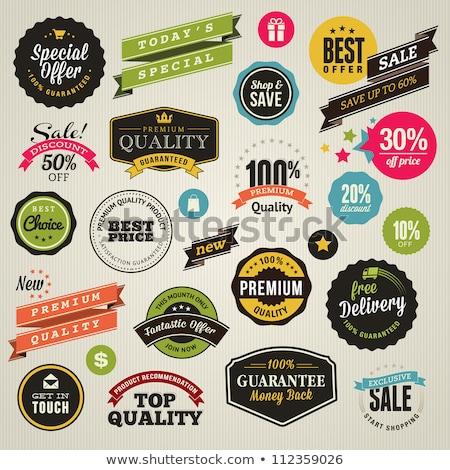 Premium Choice, Badge with Ribbon, Retail Vector Stock photo © robuart