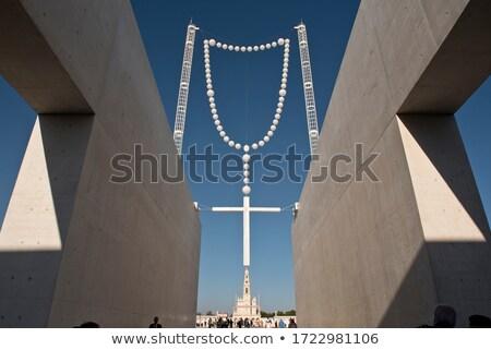 Сток-фото: паломничество · назначение · Португалия · базилика · Lady · четки