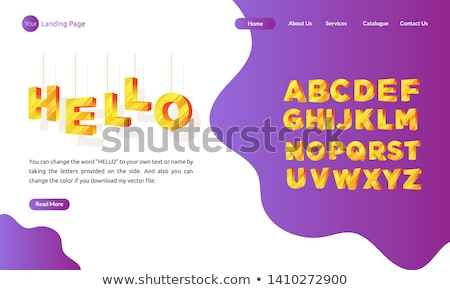 Márka név leszállás oldal üzlet marketing stratégia Stock fotó © RAStudio