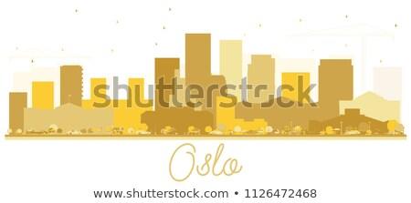 オスロ シルエット 単純な 観光 ストックフォト © ShustrikS