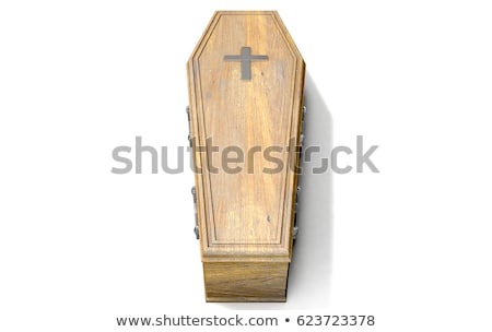coffin on white background. Isolated 3D illustration Stock photo © ISerg