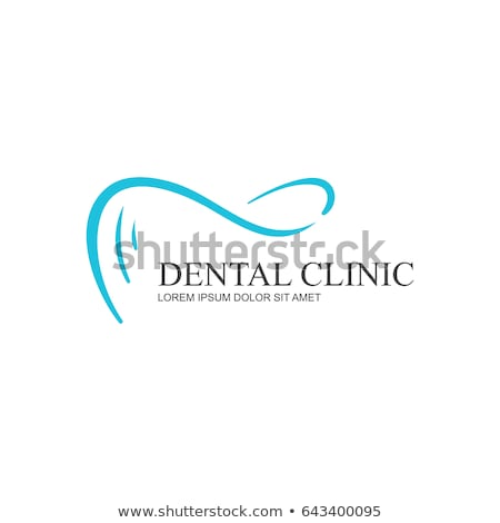 Ingesteld tand logos tandheelkunde business abstract Stockfoto © butenkow