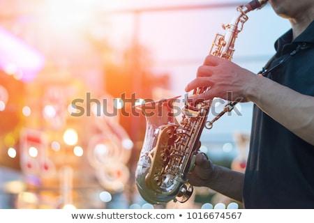 Dzsessz fesztivál gitár zene játék háttér Stock fotó © yupiramos