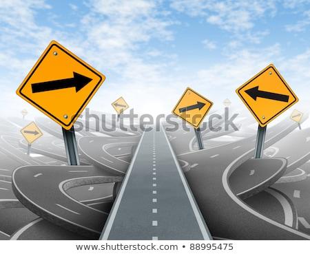 Działalności rozwiązania znak autostrady wysoki graficzne Zdjęcia stock © kbuntu