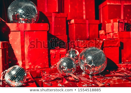 Noel · disko · parti · atış · çok · renkli - stok fotoğraf © borna_mir