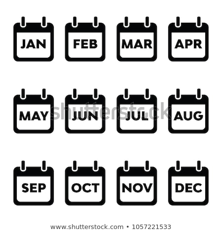 Calendar Icons for the month January Stock photo © experimental