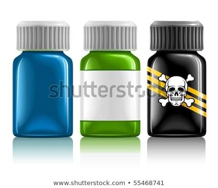 Három orvosi üvegek gyógyszer méreg izolált Stock fotó © LoopAll