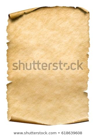 vieux · papier · vierge · défiler · frontière - photo stock © deyangeorgiev