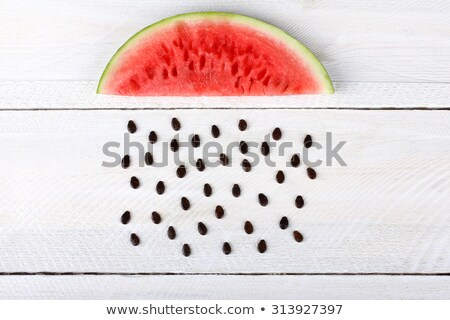 Black watermelon seeds isolated on white background Stock photo © kawing921