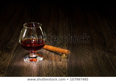 cognac in goblet with cigar Stock photo © brulove