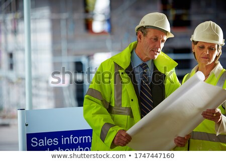 Senior surveyor on construction site Stock photo © photography33