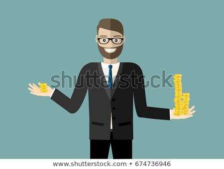 empresário · para · cima · opções · homem · feliz · exercer - foto stock © photography33