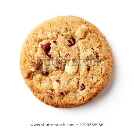 white chocolate chip and cranberry cookies stock photo © stephaniefrey