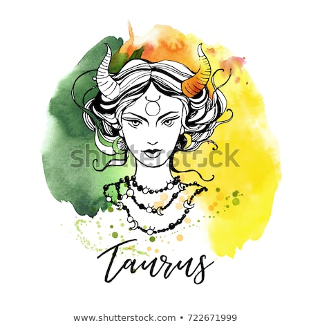 woman taurus sign for coloring stock photo © izakowski